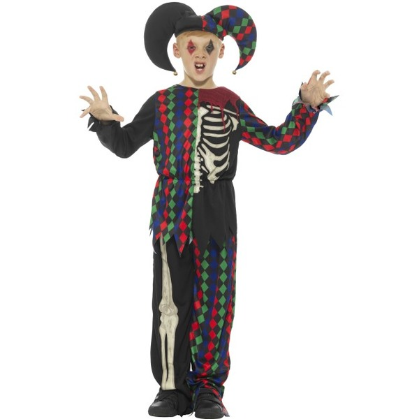Skeleton Jester Costume  sc 1 st  Tickles World & Boyu0027s Halloween Costumes | Tickles World