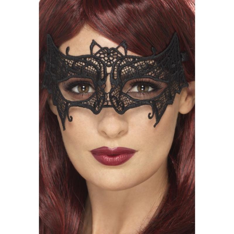 Embroidered Lace Filigree Bat Eyemask