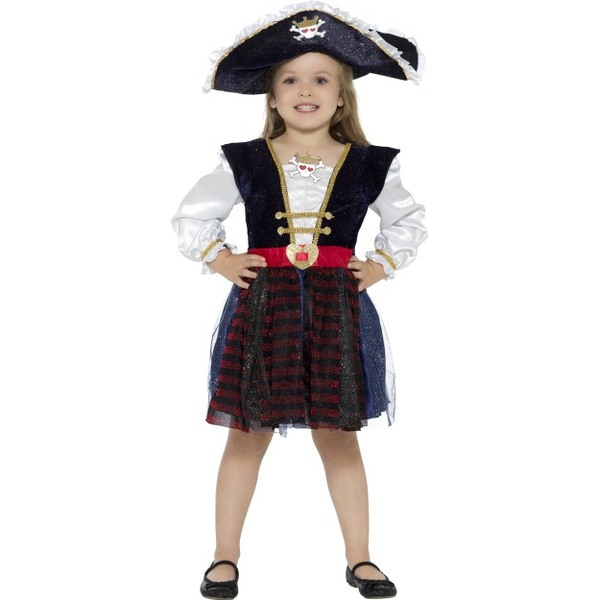 Deluxe Glitter Pirate Girl Costume  sc 1 st  Tickles World & Girlu0027s Halloween Costumes | Tickles World