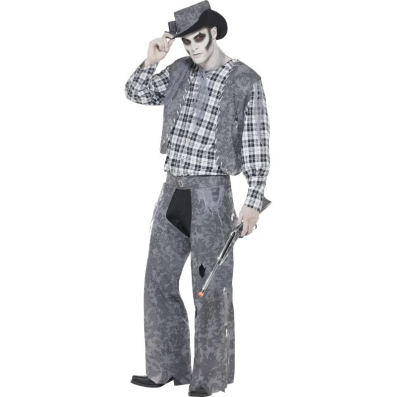 Ghost Town Cowboy Costume, Grey
