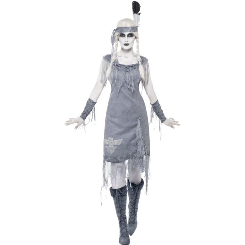 Ghost Town Indian Style Princess Costume, Grey